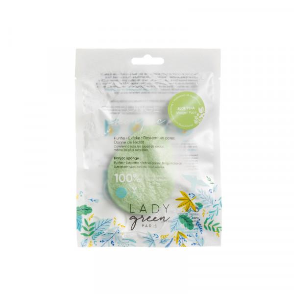 Lady Green - Konjac Schwamm mit Aloe Vera / Éponge Merveilleuse Konjac Schwamm Aloe Vera