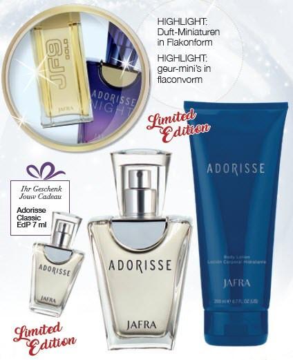 Adorisse Parfum SET - Duft + Miniatur Duft 7ml + Körperlotion