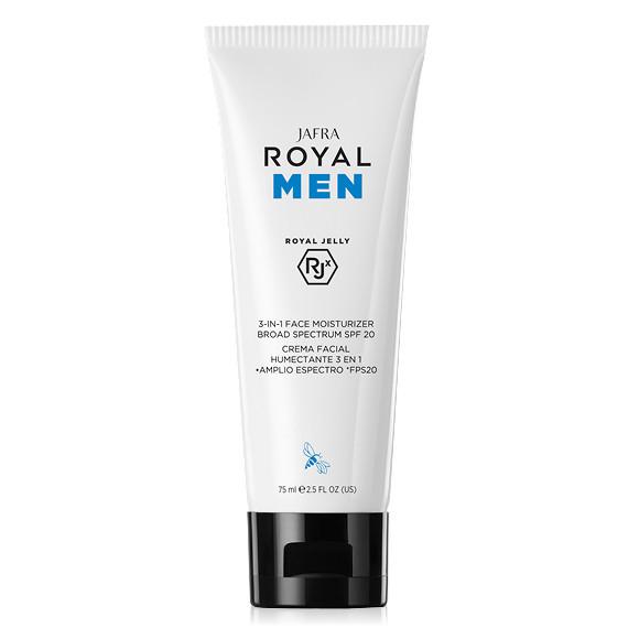 ROYAL Men 3-in-1 feuchtigkeitsspendende Gesichtspflege mit SPF20 mit Jelly RJX
