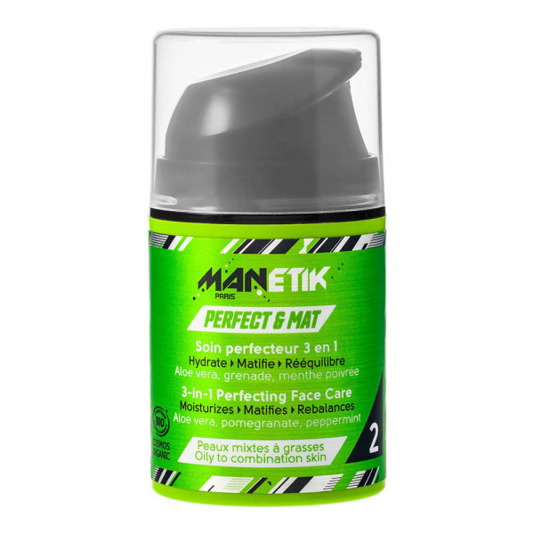 Manetik - PERFECT & MAT 3in1 Gesichtspflege - Perfecting Face Care- 50ml